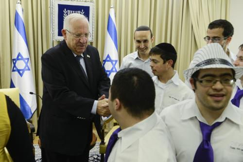 With President Ruvy Rivlin