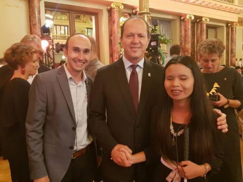 With Mayor of Jerusalem Nir Barkat